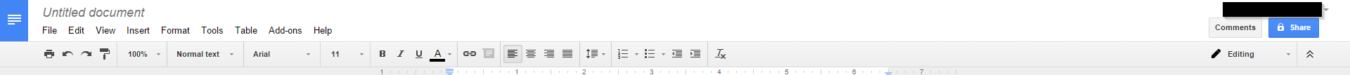 Google doc navigation panel